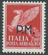 1942 REGNO POSTA AEREA POSTA MILITARE 10 LIRE MNH ** - CZ37-7