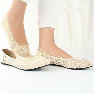 Women Comfort Lace Sheer Antiskid Invisible Liner No Show Korean Short Socks