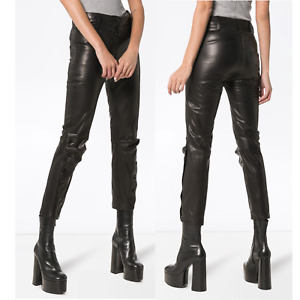 Ann Demeulemeester Leather Pants Size 2 NEW