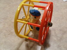 1950's Vintage Donald Duck red & yellow Resin Rolling Ferris Wheel Baby Toy