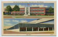 Service & Parts Building Buick Motor Company Plant Flint Michigan postcard
