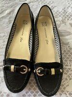 Anne Klein iflex Womens Size 8.5M Black Slip-On Ballet Flats Shoes