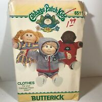 Vintage BUTTERICK Sewing Pattern for Cabbage Patch Kids #6511