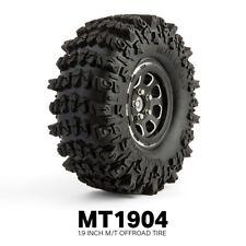 Gmade RC 1/10 Rubber TRUCK Tires 1.9 ROCK CRAWLER 1904 Wheels 121mm W/ Foam 2PCS