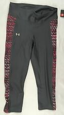 Under Armour Women's Fitted Crop 1291277 Leggings Studio Grey Pink Size M