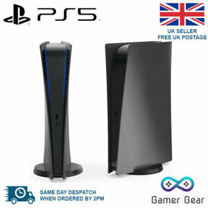 PS5 Black Face Side Plates Shell Case Cover - Disc Edition