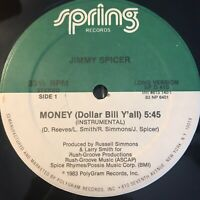 "Jimmy Spicer Money Vinyl Record Original Pressing 1983 Disco Rap 12"""