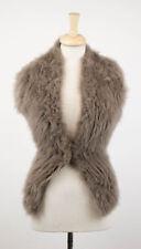 NWT BRUNELLO CUCINELLI Women's Brown Cashmere Fur Knit Sweater Size XL $4365