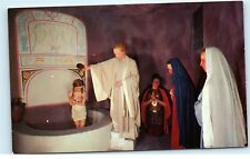 *Musee Historique Baptism Life Size Wax Figures Montreal Canada Postcard B74