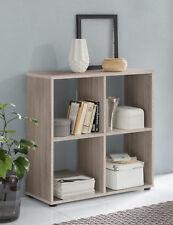 Wilmes: Raumteiler mit 4 Fächer - Bücherregal Standregal Regal - Eiche Sägerau