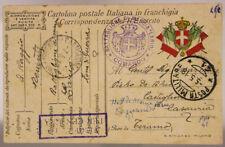 POSTA MILITARE 41 TIMBRO COMANDO BATTAGLIONE DI MARCIA LARIO  5.5.1918  #XP378C