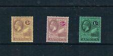 Antiqua 1921-29 - 3d to 1sh KGV Portraits - SC 51-53 [SG 74-76] Mint 21