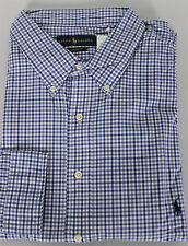 Ralph Lauren Polo Shirt Mens 3XLT Big Tall Long Sleeves Blue White Classic Fit