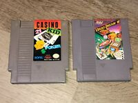 Vegas Dream & Casino Kid 2 Game Lot Nintendo Nes Cleaned & Tested Authentic