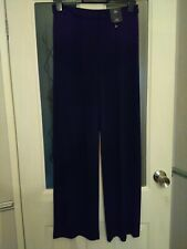 M+S Collection Womens Navy Trouser Wide leg 10 Long BRAND NEW WITH TAG