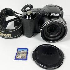 Nikon COOLPIX L120 14.1MP Digital Camera Black + 8GB SD 720HD Video Tested