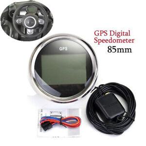 9-32V Waterproof GPS Digital Speedometer Odometer Gauge For Car Truck Yacht 85mm