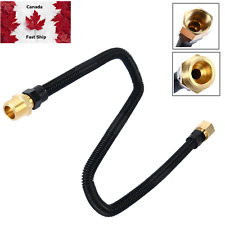 1/2 x 24 in Non-Whistle Flexible Flex Gas Line for NG or LP Fire Pits , Features