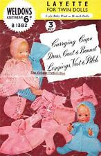 "BABY DOLL LAYETTE for BOY & GIRL - 10"" - 3ply -  COPY doll knitting pattern"
