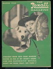 MARION DAVIES St. Patrick's Day Cover of The REXALL Magazine March 1934 EX