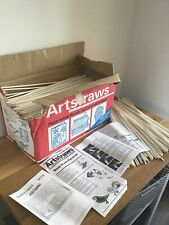 Artstraws Craft Paper Straws School Latge Box Instructions Retro