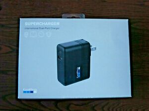 New Genuine GoPro International Supercharger 27.5W Dual-Port Charger AWALC-002