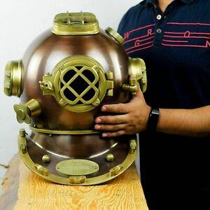 Antique Scuba Divers Diving Helmet U.S Navy Mark V Boston Full size Vintage Gift