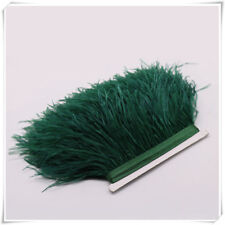 Hunter Green Ostrich Feather Trims Fringes Sewn on Feather Tape 1 Yard