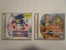 Sega Dreamcast Game Lot of 2 (Sonic Adventure, Tomb Raider) Untested