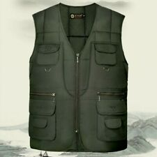 Men's Interior Winter Waistcoat Dad Cotton vest Body Warmer Sleeveless Jacket