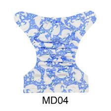 New ALVA Minky Reusable Washable Baby Cloth Diaper Nappy print +1Insert MD04