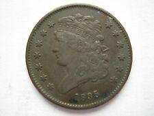 More details for united states 1835 copper half cent gvf