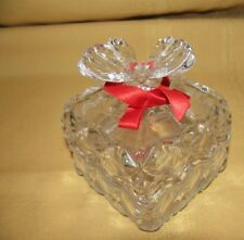 CRYSTAL CLEAR  2 PIECES TRINKET BOX ANTIQUE BRILLIANT HIGH CRYSTAL BUTTERFLY FIG