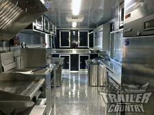 New 2021 8.5X28 V-Nose Enclosed Mobile Food Truck Bbq Concession Vending Trailer