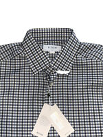 NWT ETON Dress Shirt Plaid Blue Long Sleeve Cotton Twill Slim Fit Size 41 16 L
