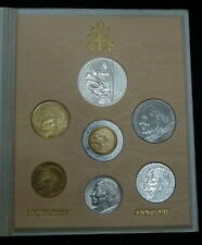1985 Italy Vatican complete set coins  UNC with silver
