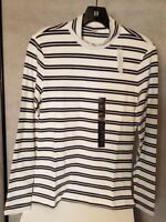 Banana Republic Women's Navy Striped Mock Turtleneck Top Shirt XS S M L XL NWT