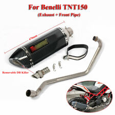 For Benelli TNT150 Motorcycle System Front Header Pipe Link Tube Exhaust Muffler