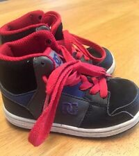 DC SHOES Boys High Top Skateboard Basketball Toddlers Girls Shoes Size 8 ~