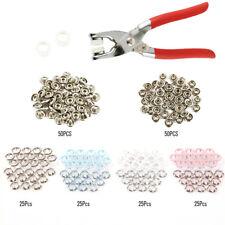 200x diente alicates anillo Espárragos Popper sujetadores 9.5 mm herramienta
