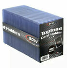 Внешний вид - Trading Card Sleeves Hard Plastic Topload Clear Case Holder 100 Baseball Cards