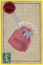 cpa FANTAISIE Sachet de PRALINES SOIE REAL BAG SILK DENTELLE LACE