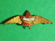 """MILITARY AIR FORCE PIN CANADA STE. ANNE MAPLE LEAF WINGS SAINT 1 7/8"""" LONG 48 MM"""