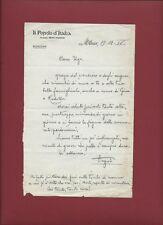 Il Popolo d'Italia - Lettera su Carta Intestata della Redazione 19/12/1937