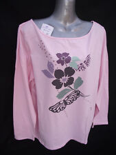 BNWT Ladies Sz 22 Undercoverwear Baby Pink Soft Stretch Long Sleeve Top RRP $35