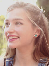 rich Beryl Green Giverny pave Nwt Kate Spade secret garden stud earrings
