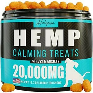 Hemp Calming Chews for Dogs with Anxiety and Stress 180 Soft Dog Calming Treats