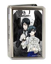 Black Butler Sebastian and Ciel Metal Multi Use Wallet Business Card Holder New