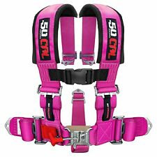 3 Inch 5 Point Harness Seat Belt RZR 1000 SandRail Buggy Truck Pink Yamaha Rhino