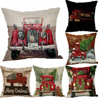Christmas Tree Cotton Linen Pillow Case Cover Home Decor New Throw Cushion
